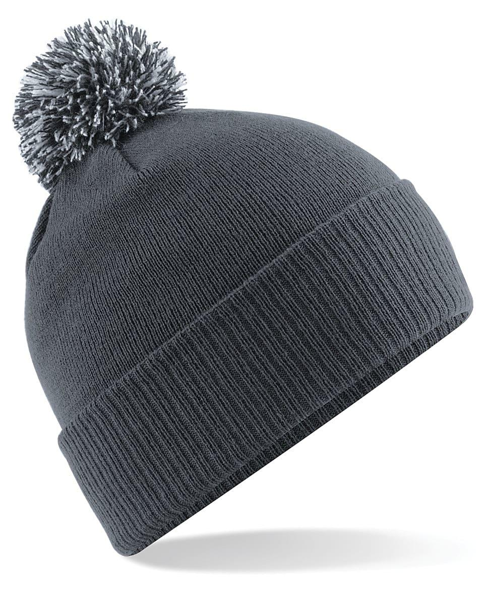 Beechfield Snowstar Beanie Hat in Graphite Grey / Light Grey (Product Code: B450)