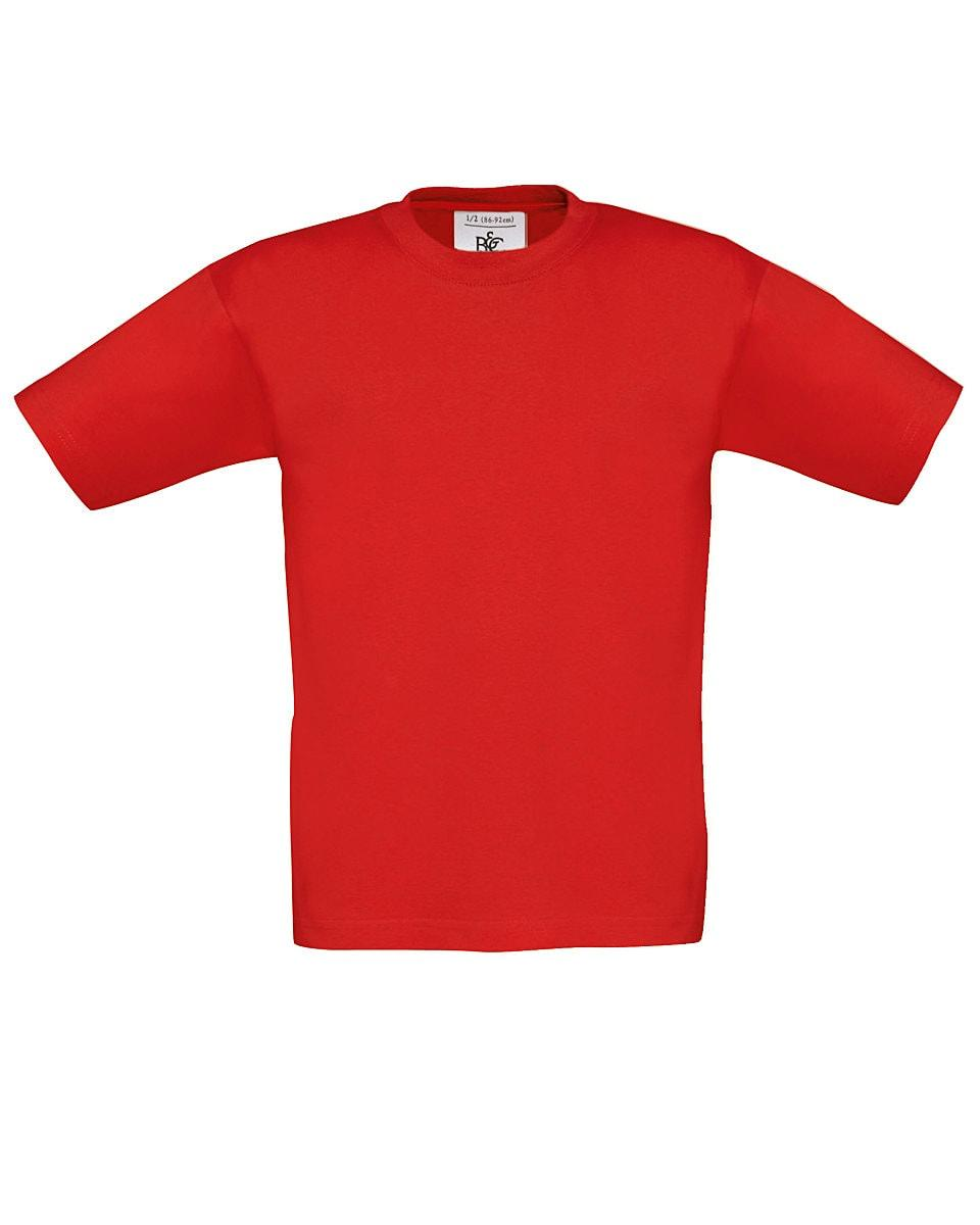 B&C Childrens Exact 150 T-Shirt in Red (Product Code: TK300)