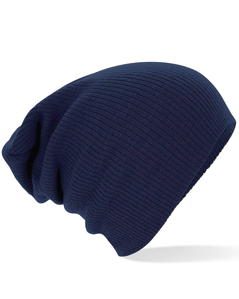 Beechfield Slouch Beanie Hat in French Navy (Product Code: B461)