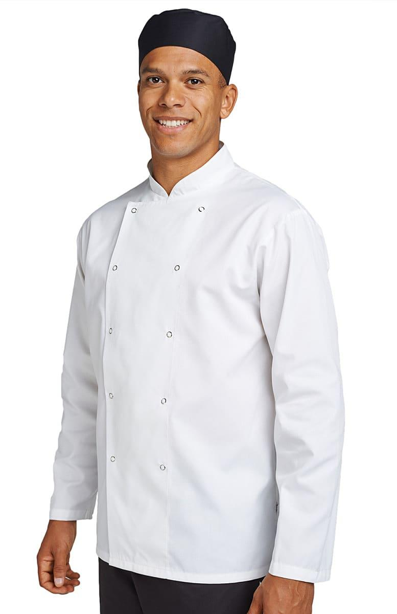 Dennys Budget Long-Sleeve Chefs Jacket in White (Product Code: DD70)