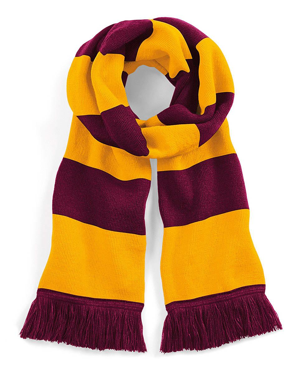 Beechfield Varsity Scarf in Burgundy / Gold (Product Code: B479)