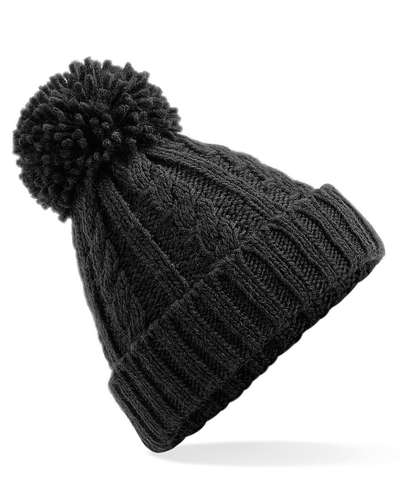 Beechfield Cable Knit Melange Beanie Hat