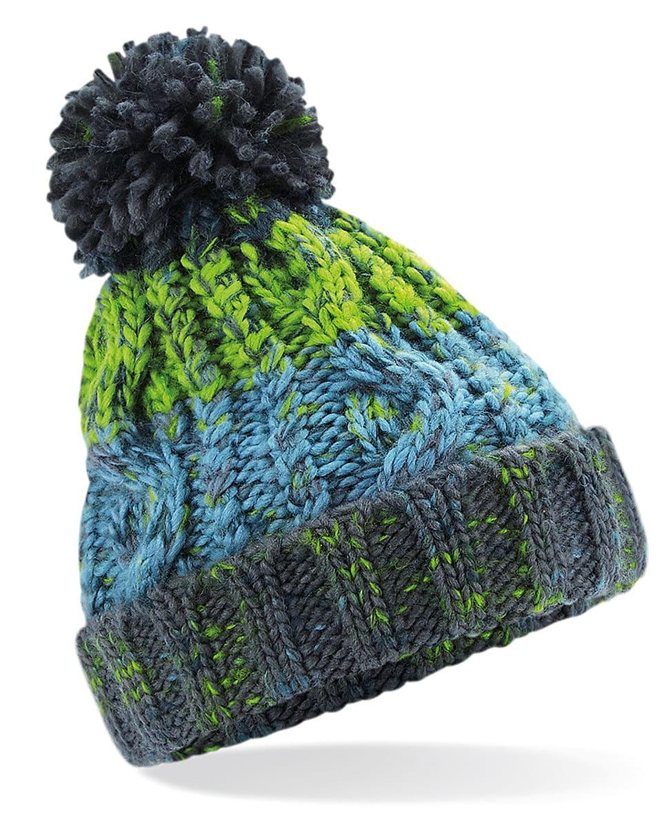 Beechfield Junior Corkscrew Beanie Hat in Electric Grey (Product Code: B486B)