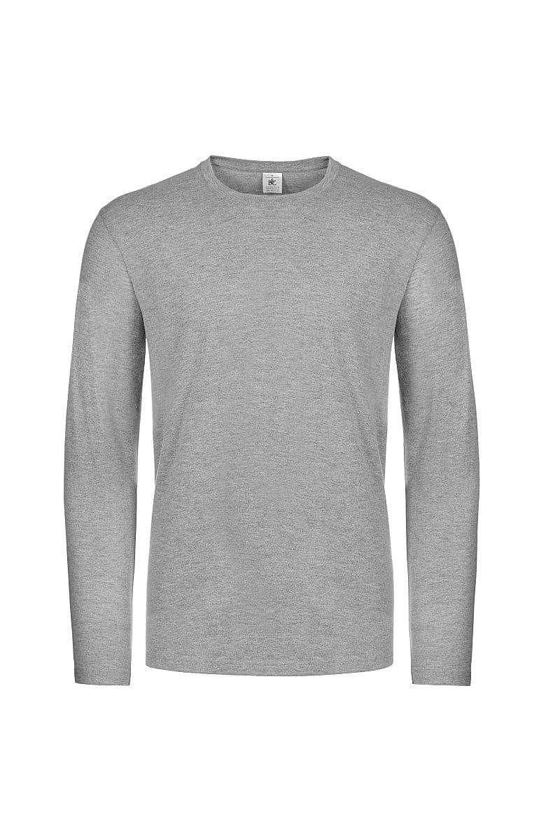 B&C Mens E190 Long-Sleeve Jersey in Sport Grey (Product Code: TU07T)