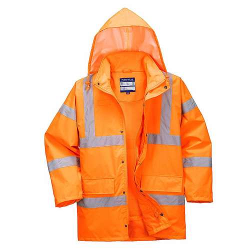 Portwest Hi-Viz Breathable Traffic Jacket (Interactive)