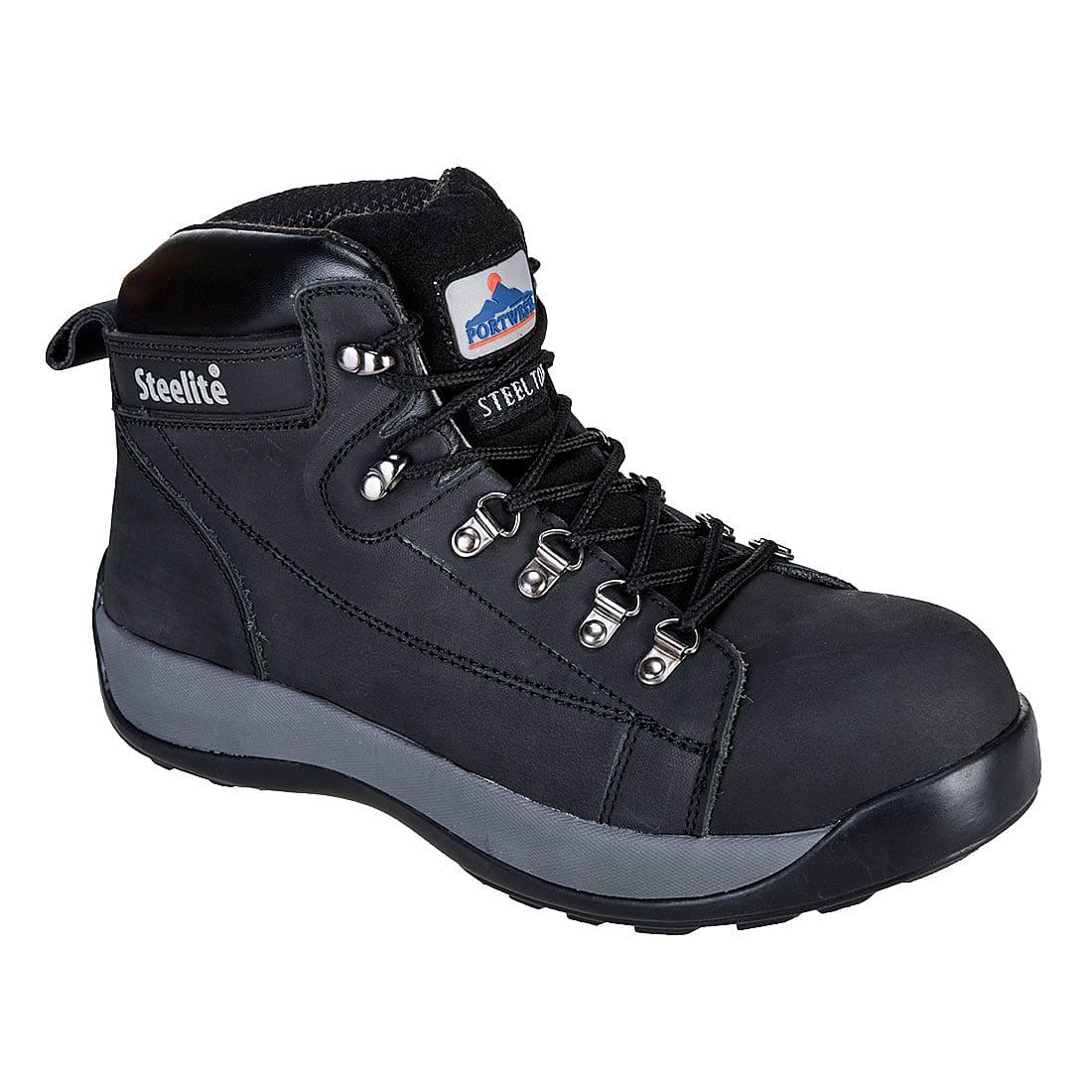 Portwest Steelite Mid Cut Nubuck Boots SB HRO in Black (Product Code: FW31)