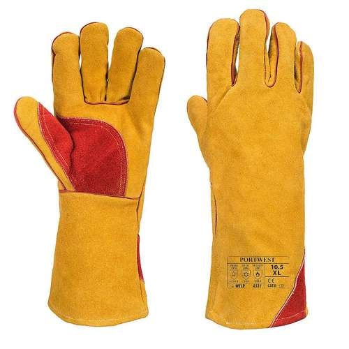 Portwest Reinforced Winter Welding Gauntlet Gloves