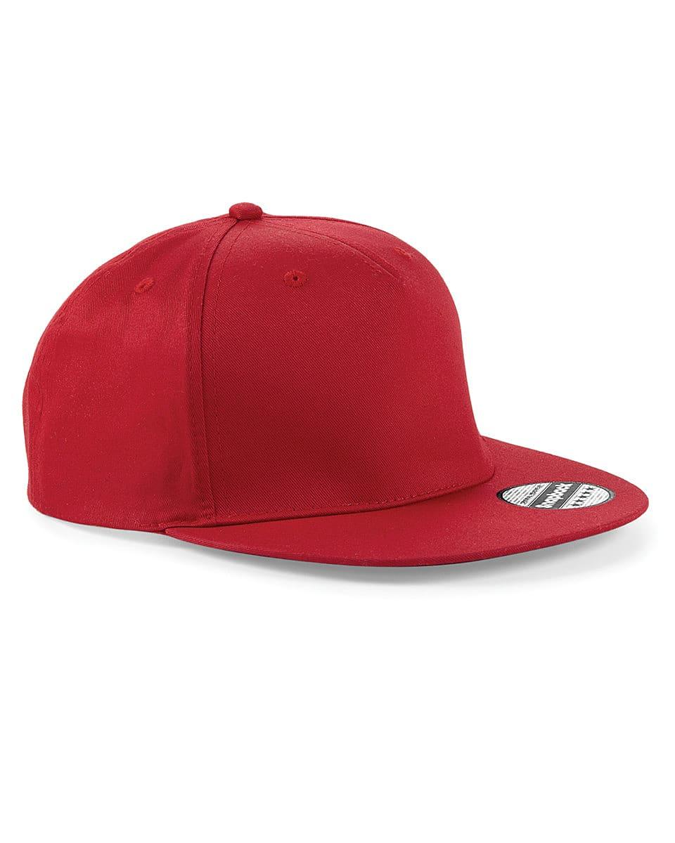Beechfield Snapback Rapper Cap in Classic Red (Product Code: B610)