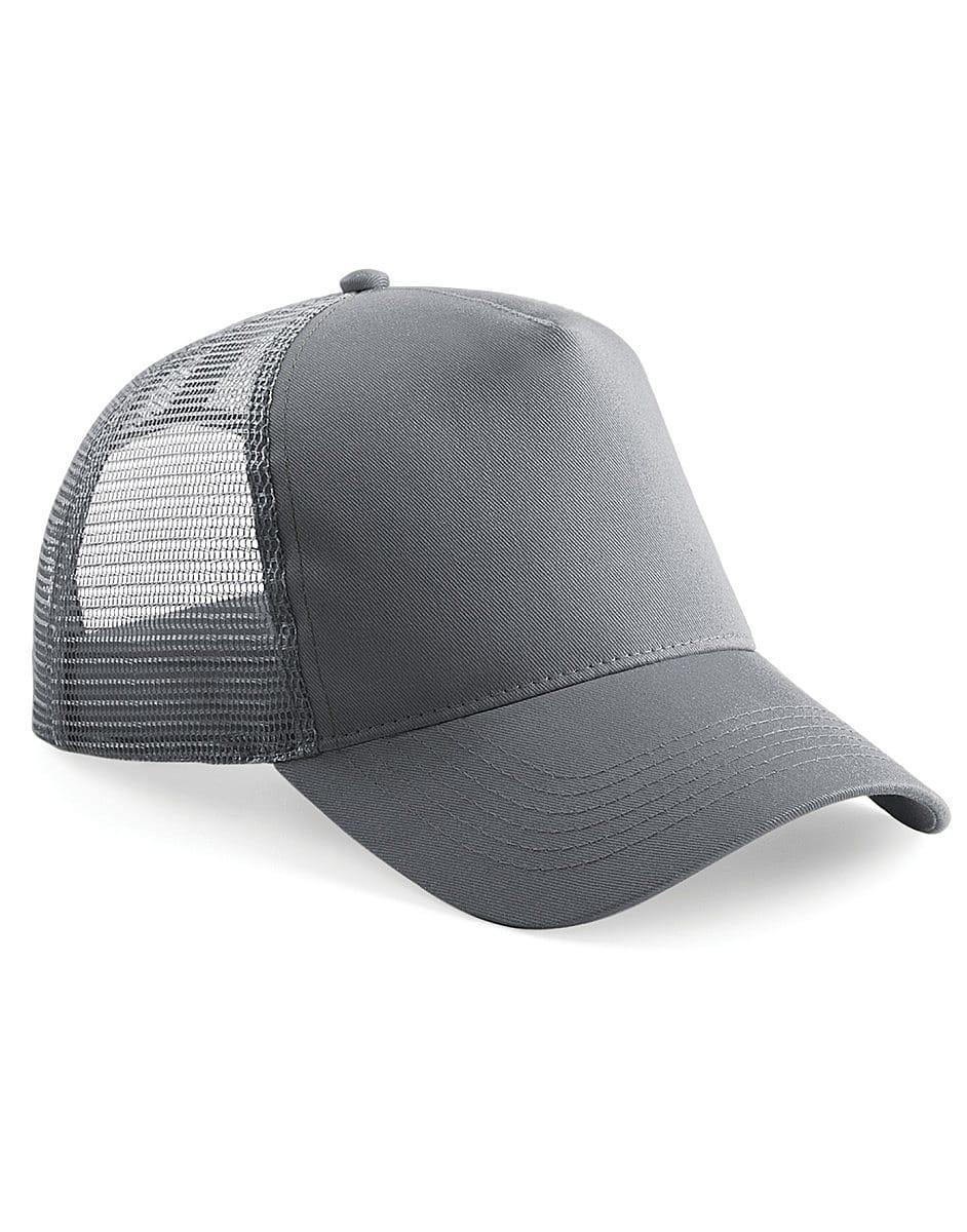 Beechfield Snapback Trucker Cap in Graphite Grey (Product Code: B640)