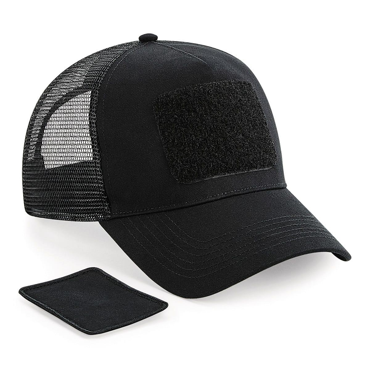 Beechfield Patch Snapback Trucker Cap in Black (Product Code: B641)