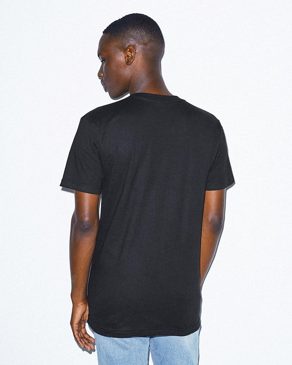 American Apparel Fine Jersey V-Neck T-Shirt in Black (Product Code: 2456W)