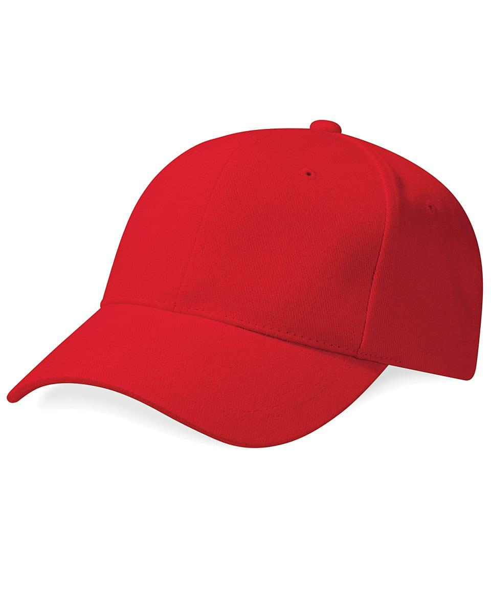 Beechfield Pro Style Heavy Cap in Classic Red (Product Code: B65)
