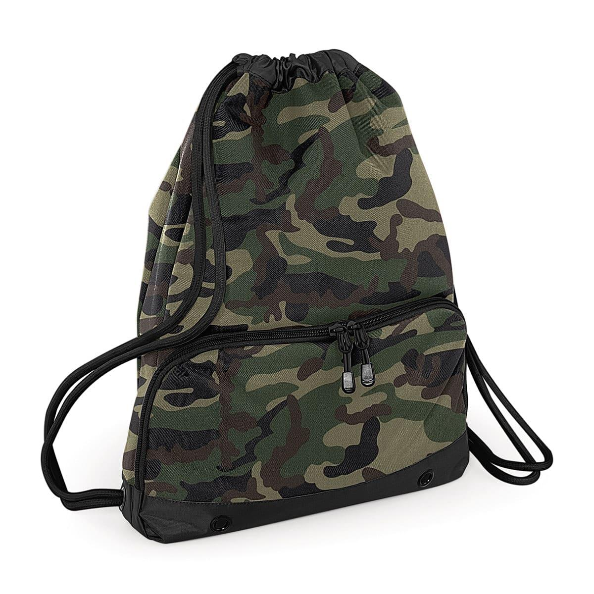 Bagbase Athleisure Gymsac in Jungle Camo (Product Code: BG542)