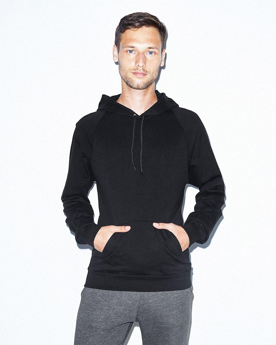 American Apparel Adult Pullover Hoodie in Black (Product Code: 5495W)