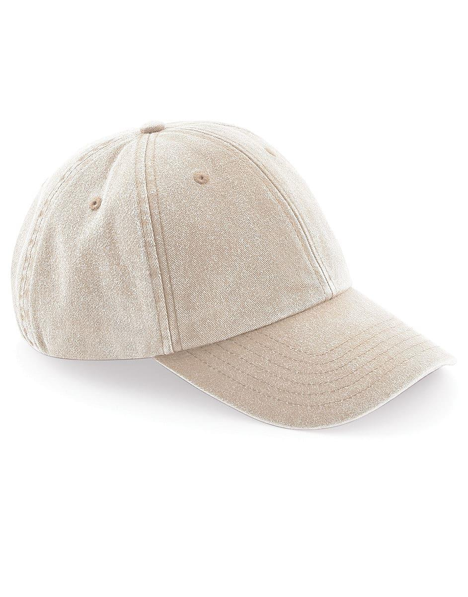 Beechfield Low Profile Vintage Cap in Vintage Stone (Product Code: B655)