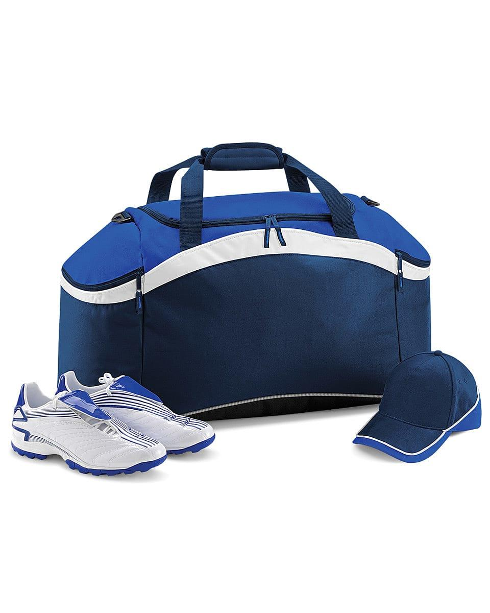 Bagbase Teamwear Holdall in French Navy / Bright Royal / White (Product Code: BG572)