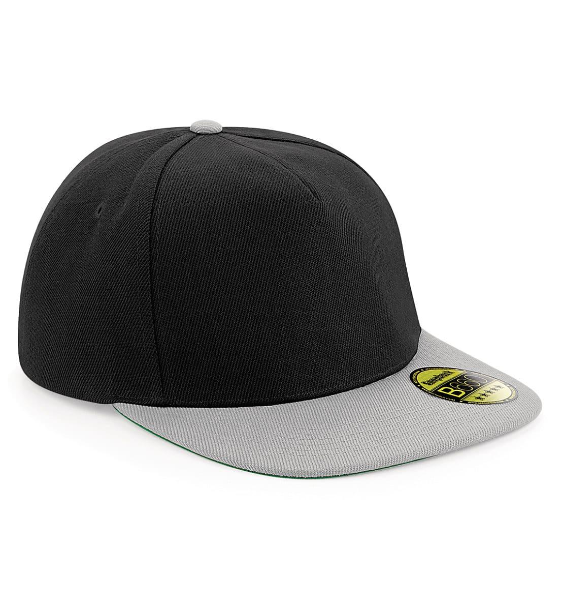 Beechfield Original Flat Peak Snapback in Black / Grey (Product Code: B660)