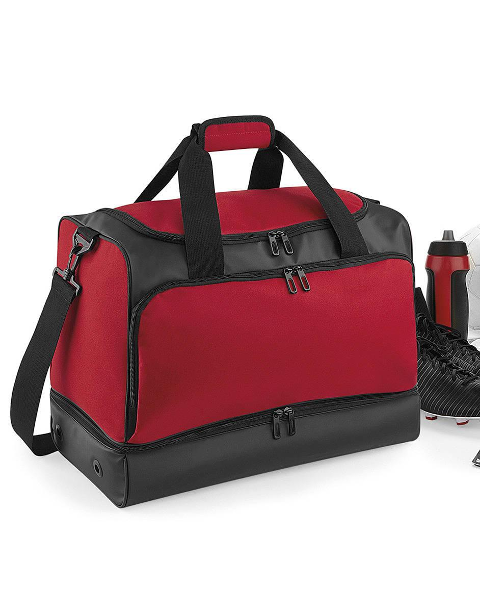 Bagbase Hardbase Sports Holdall in Classic Red / Black (Product Code: BG578)