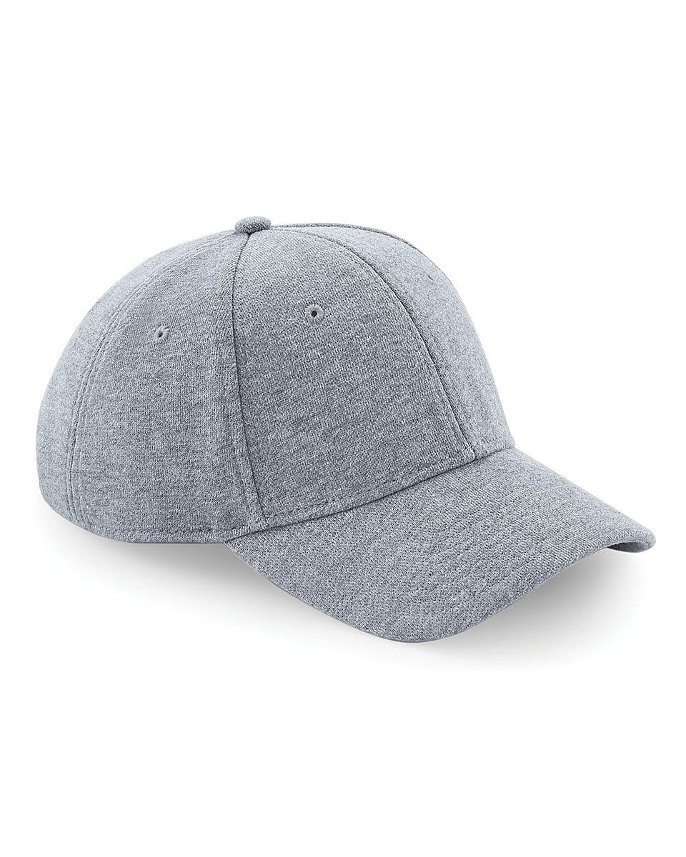 Beechfield Jersey Athleisure Cap in Heather Grey (Product Code: B677)