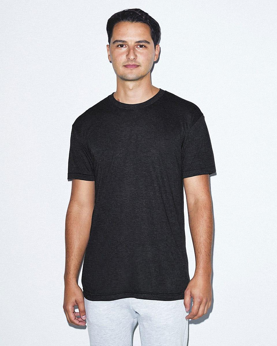 American Apparel Adult Triblend T-Shirt in Tri-Black (Product Code: TR401W)