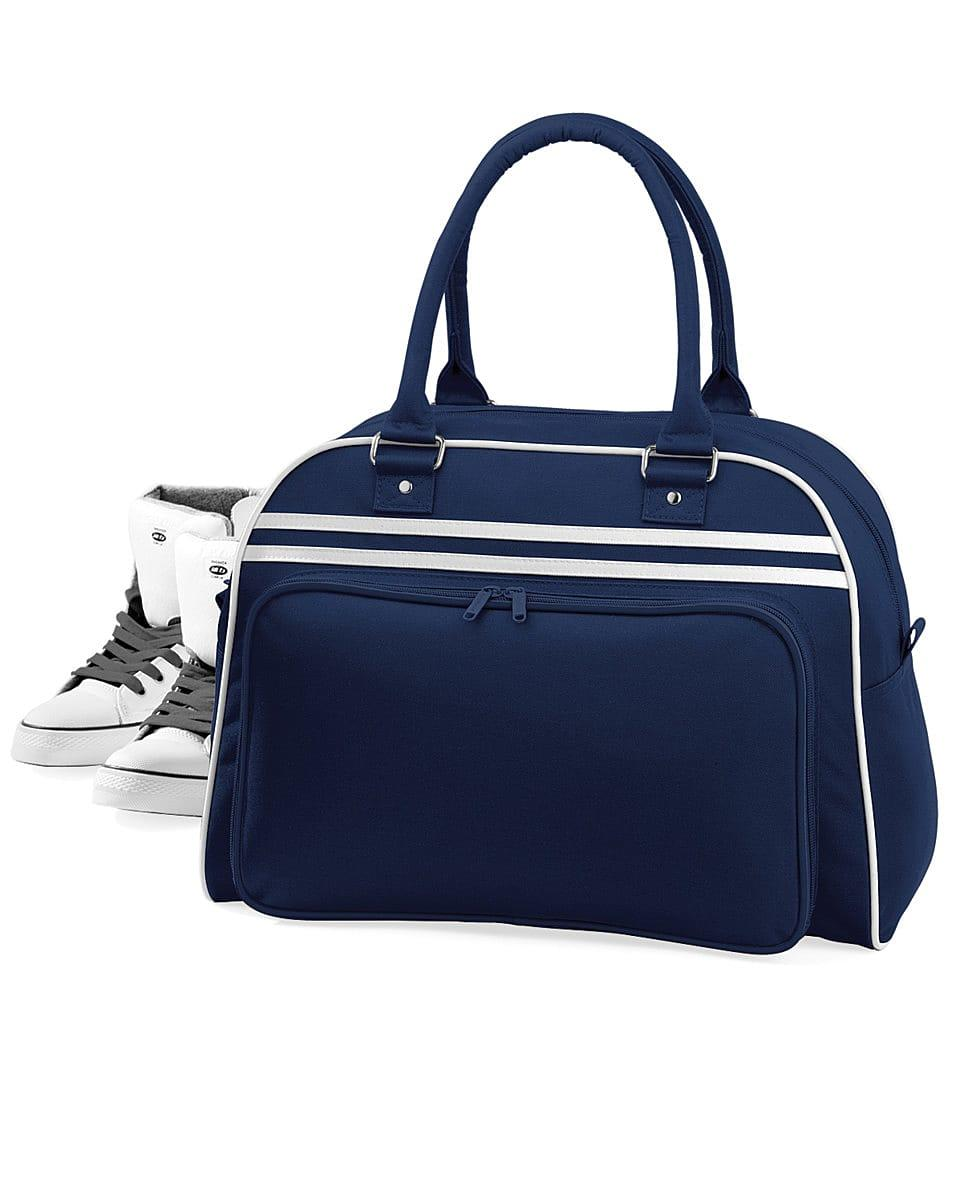 Bagbase Retro Bowling Bag in French Navy / White (Product Code: BG75)