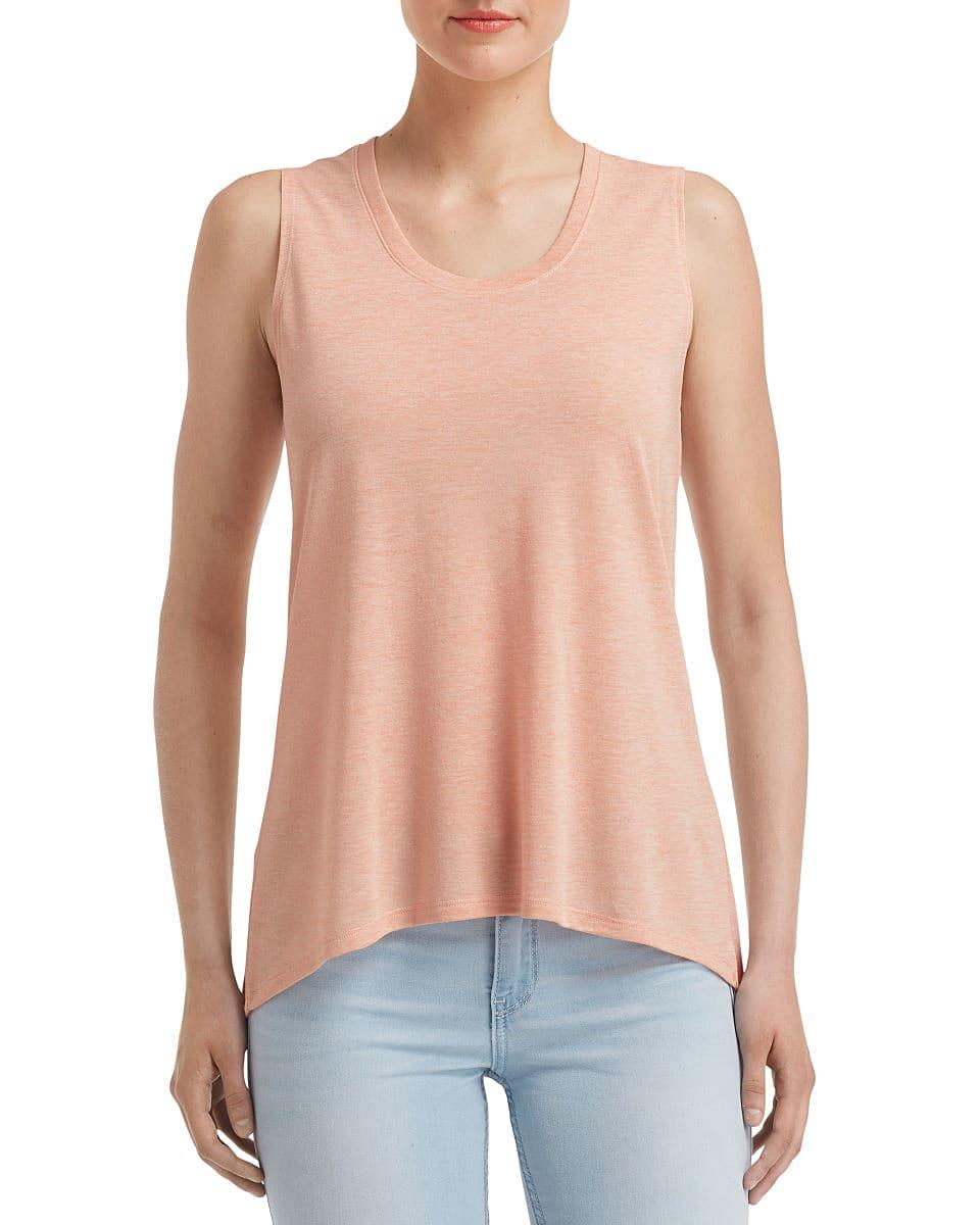Anvil Womens Freedom Sleeveless T-Shirt in Dusty Rose (Product Code: 37PVL)