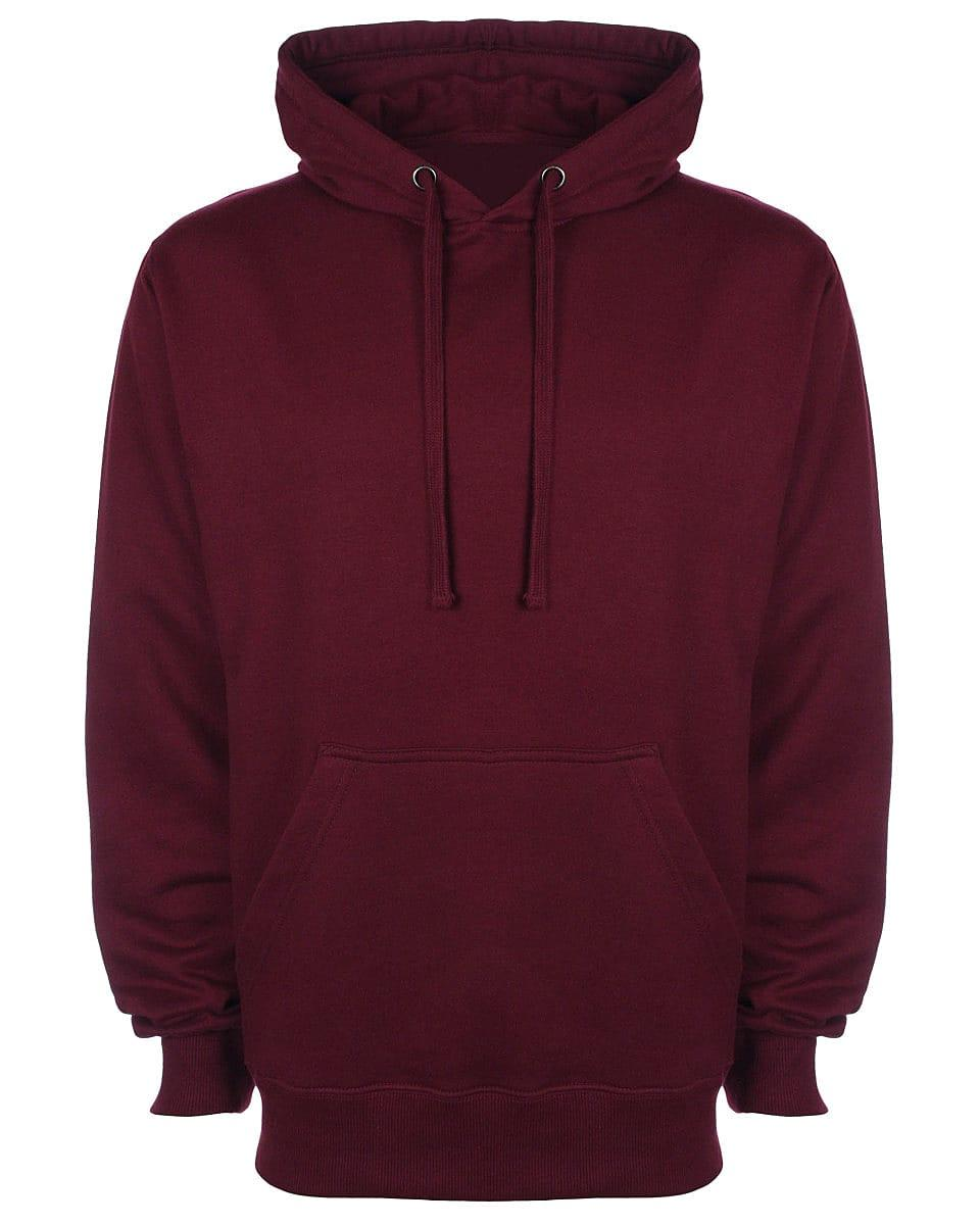 FDM Unisex Tagless Hoodie in Burgundy (Product Code: TH001)