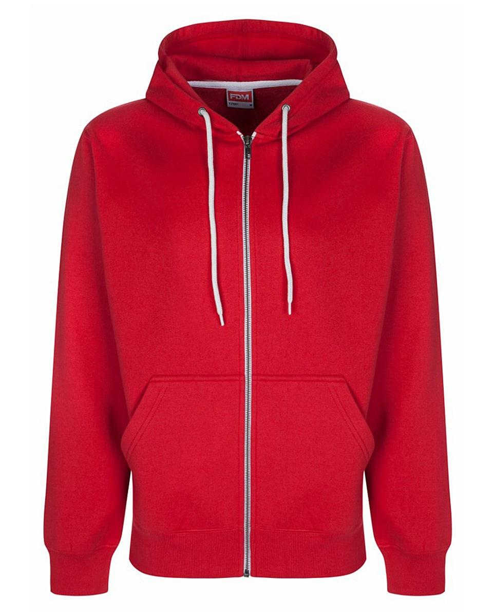 FDM Team Zip Hoodie in Red (Product Code: TZ001)