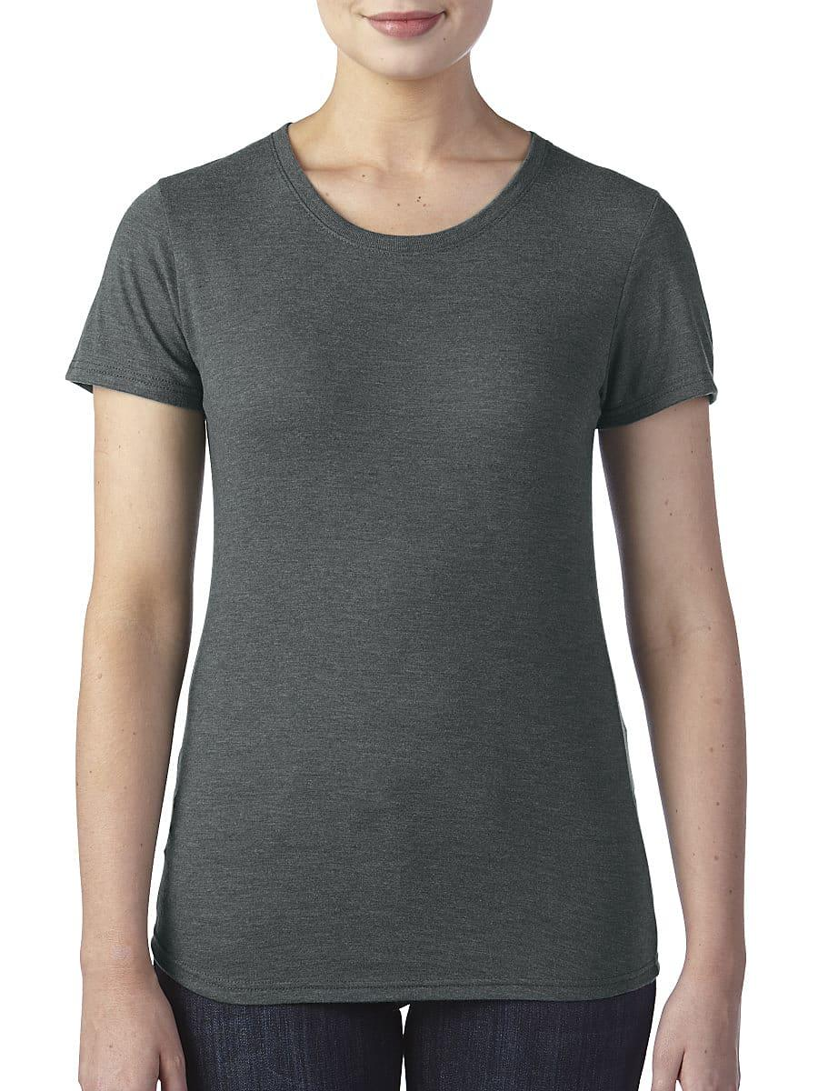 Anvil Womens Triblend T-Shirt in Heather Dark Grey (Product Code: 6750L)