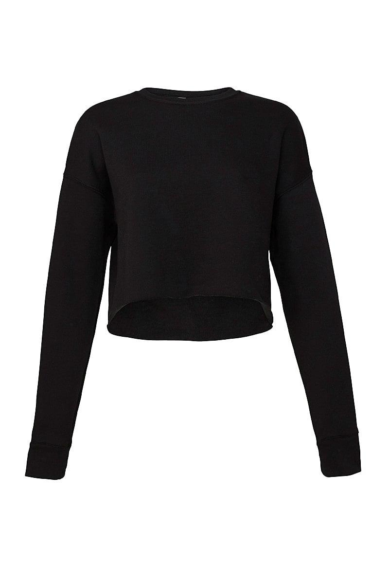 Bella+Canvas Womens Cropped Fleece Crew in Black (Product Code: BE7503)