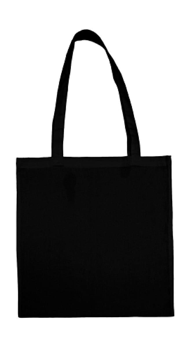 Jassz Bags Beech Cotton Long-Handle Bag in Black (Product Code: 3842LH)