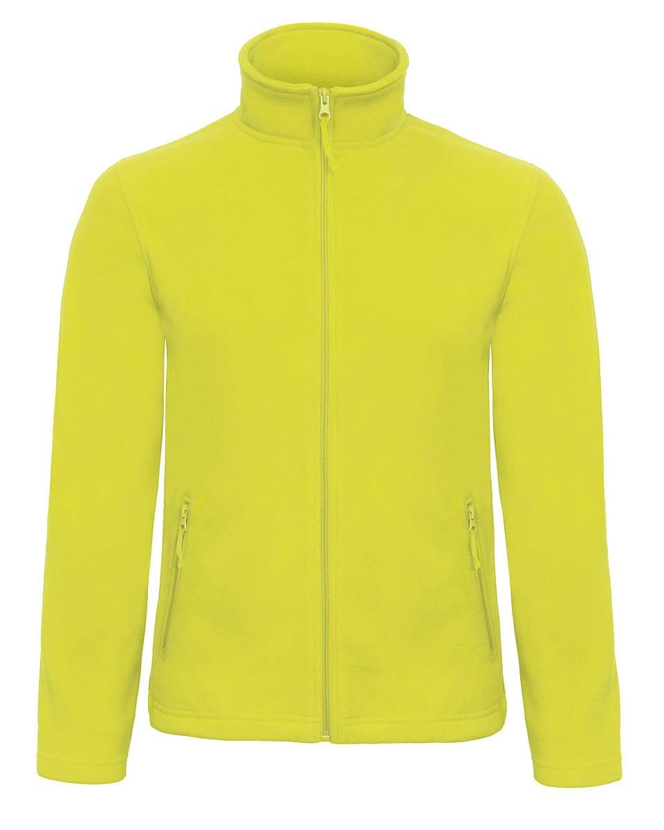 B&C Mens ID.501 Fleece Jacket in Pixel Lime (Product Code: FUI50)