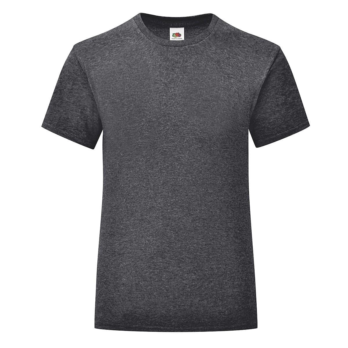 Fruit Of The Loom Girls Iconic T-Shirt in Light Graphite (Product Code: 61025)