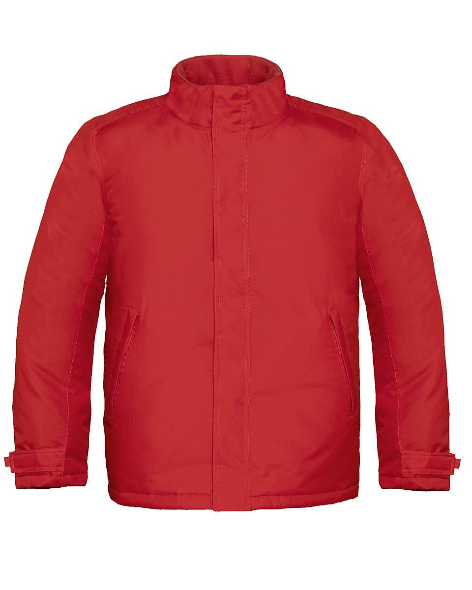 B&C Mens Real+ Jacket in Deep Red (Product Code: JM970)