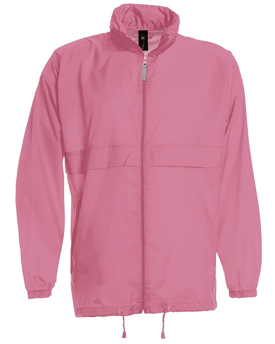 B&C Mens Sirocco Lightweight Jacket in Pixel Pink (Product Code: JU800)