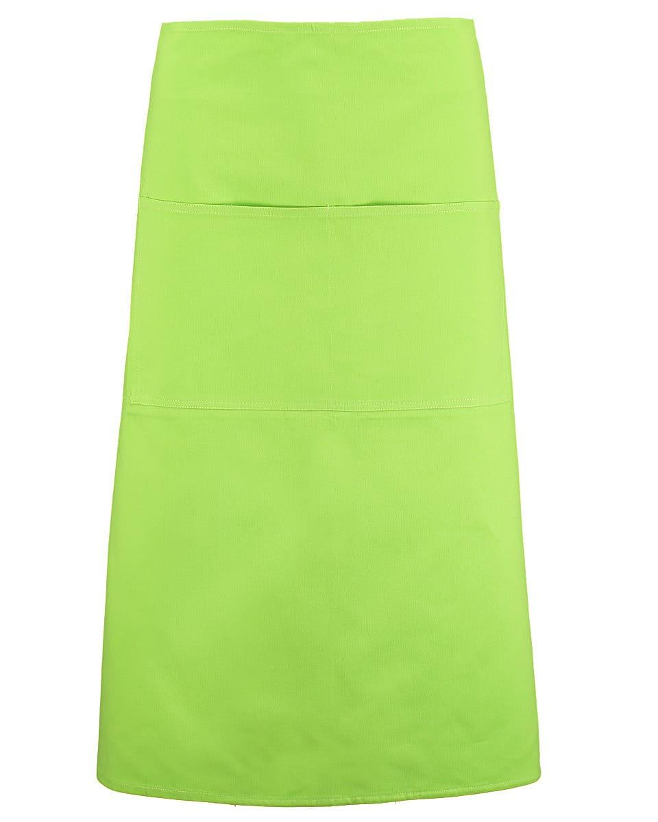 Bargear Unisex Long Bar Apron in Lime (Product Code: KK514)