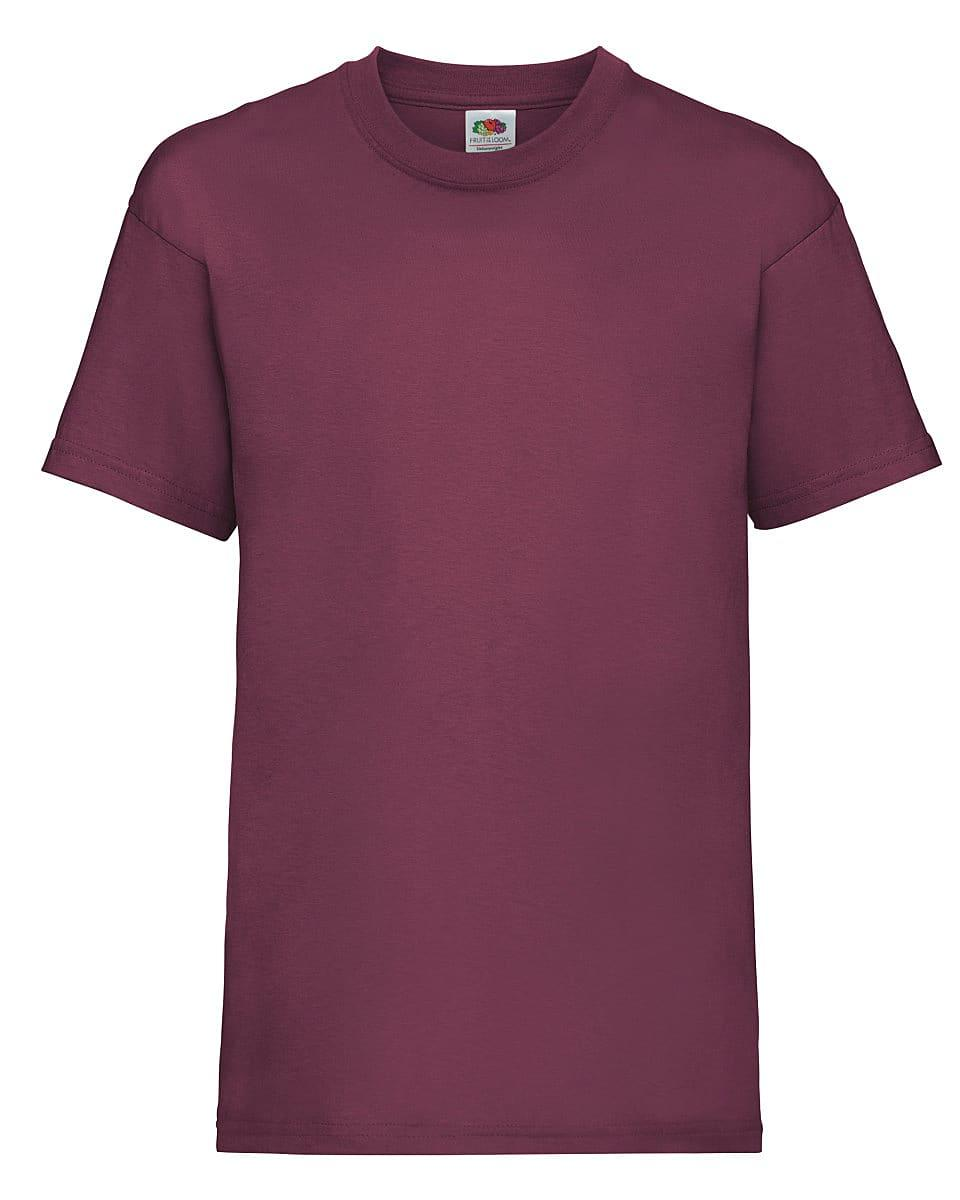 Fruit Of The Loom Childrens Valueweight T-Shirt in Burgundy (Product Code: 61033)