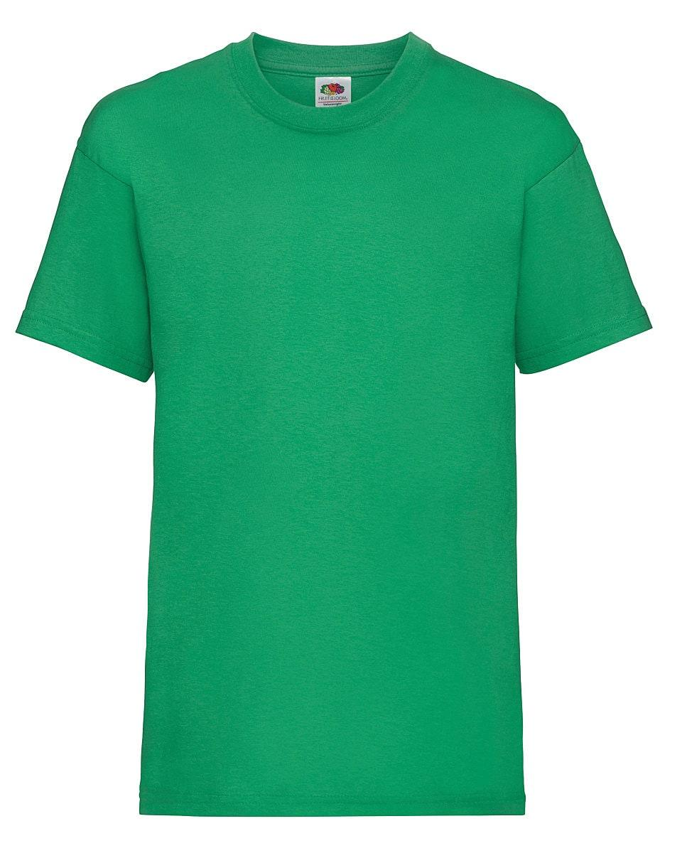 Fruit Of The Loom Childrens Valueweight T-Shirt in Kelly Green (Product Code: 61033)