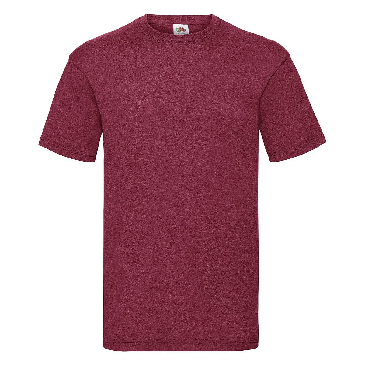Fruit Of The Loom Valueweight T-Shirt in Vintage Heather Red (Product Code: 61036)