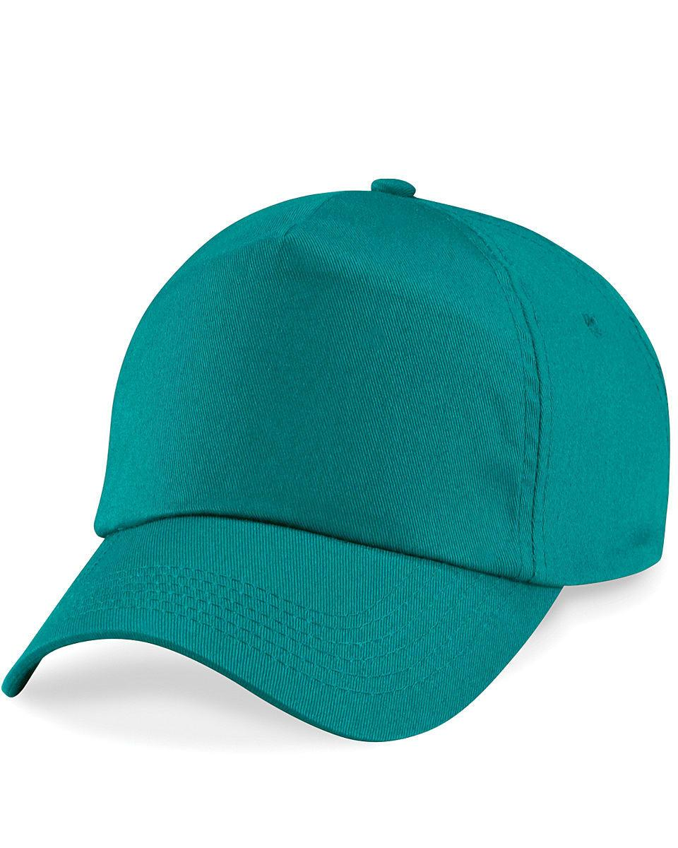 Beechfield Junior Original 5 Panel Cap in Emerald (Product Code: B10B)