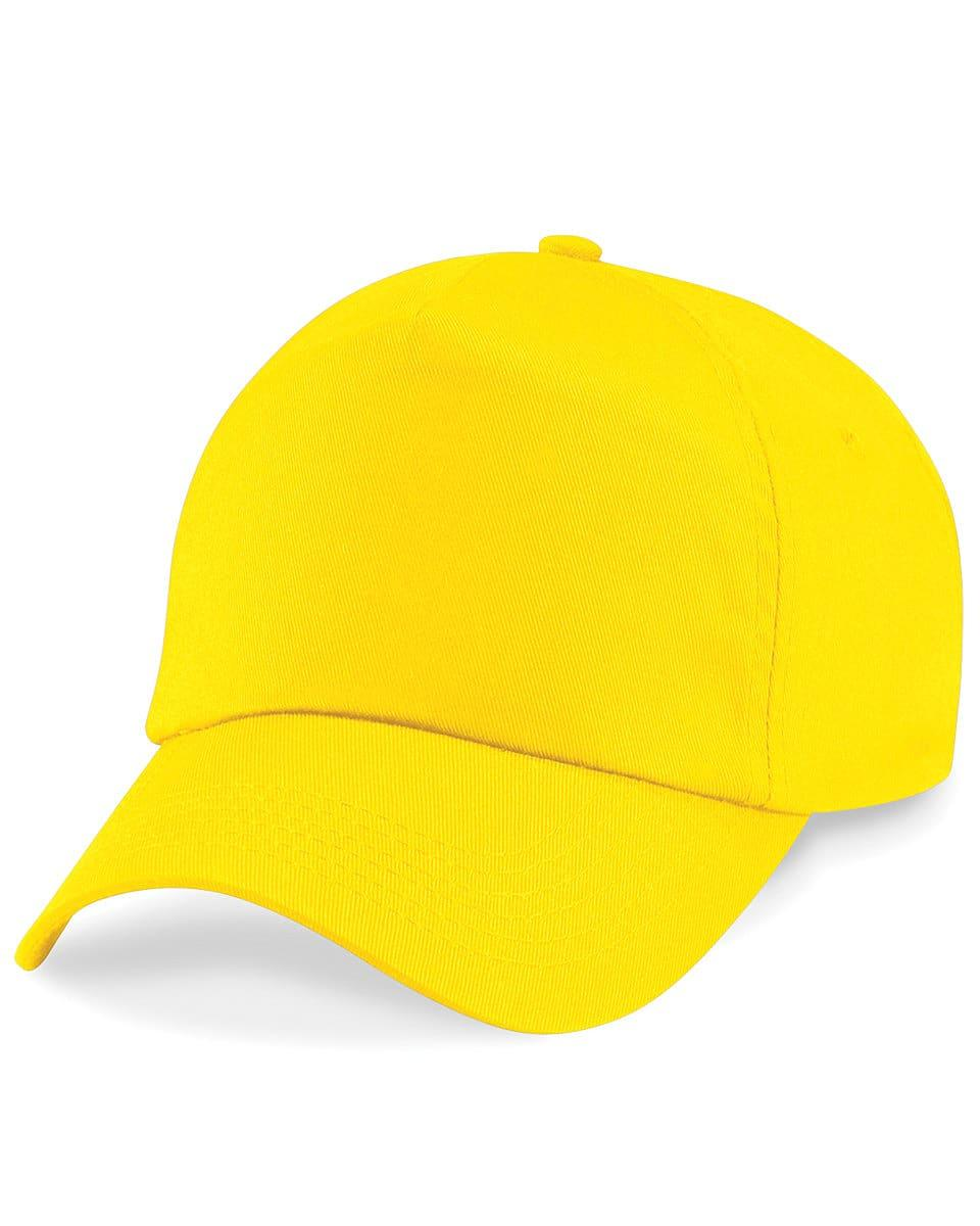 Beechfield Junior Original 5 Panel Cap in Yellow (Product Code: B10B)