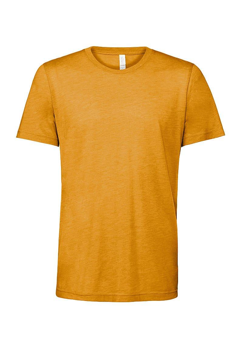 Bella Canvas Mens Tri-blend Short-Sleeve T-Shirt in Mustard Triblend (Product Code: CA3413)