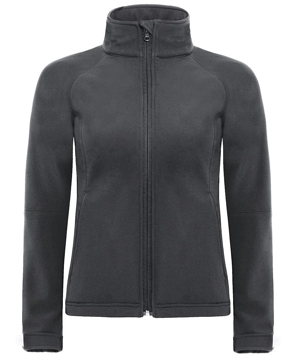 B&C Womens Hooded Softshell Jacket in Dark Grey (Product Code: JW937)