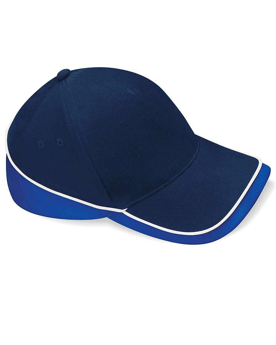 Beechfield Teamwear Competition Cap in French Navy / Bright Royal / White (Product Code: B171)
