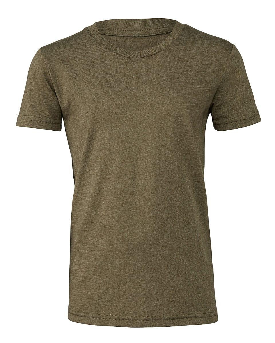 Bella Canvas Youth Triblend Short-Sleeve T-Shirt in Olive Triblend (Product Code: CA3413Y)