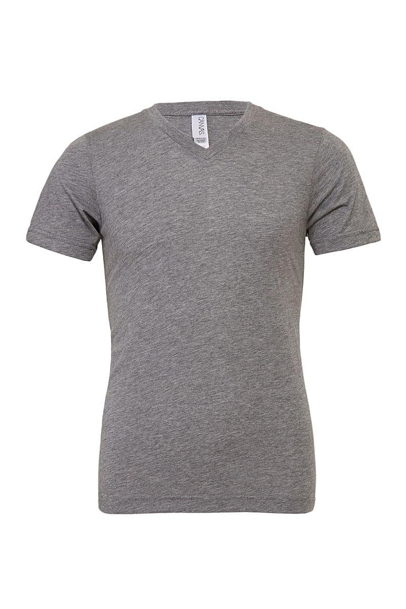Bella Triblend V-Neck T-Shirt in Grey Triblend (Product Code: CA3415)