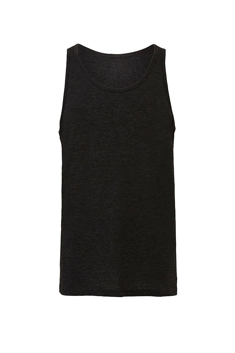 Bella Unisex Jersey Tank in Charcoal Black Triblend (Product Code: CA3480)