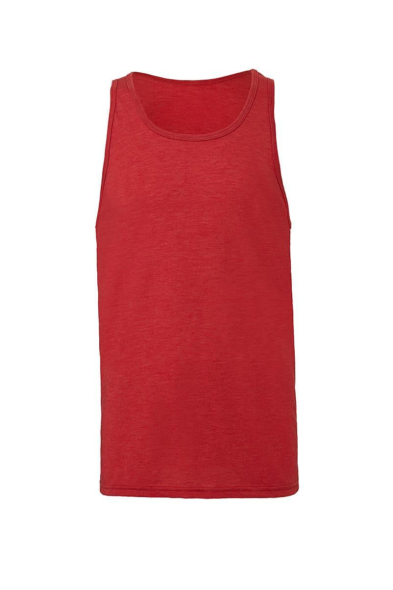 Bella Unisex Jersey Tank in Red Triblend (Product Code: CA3480)