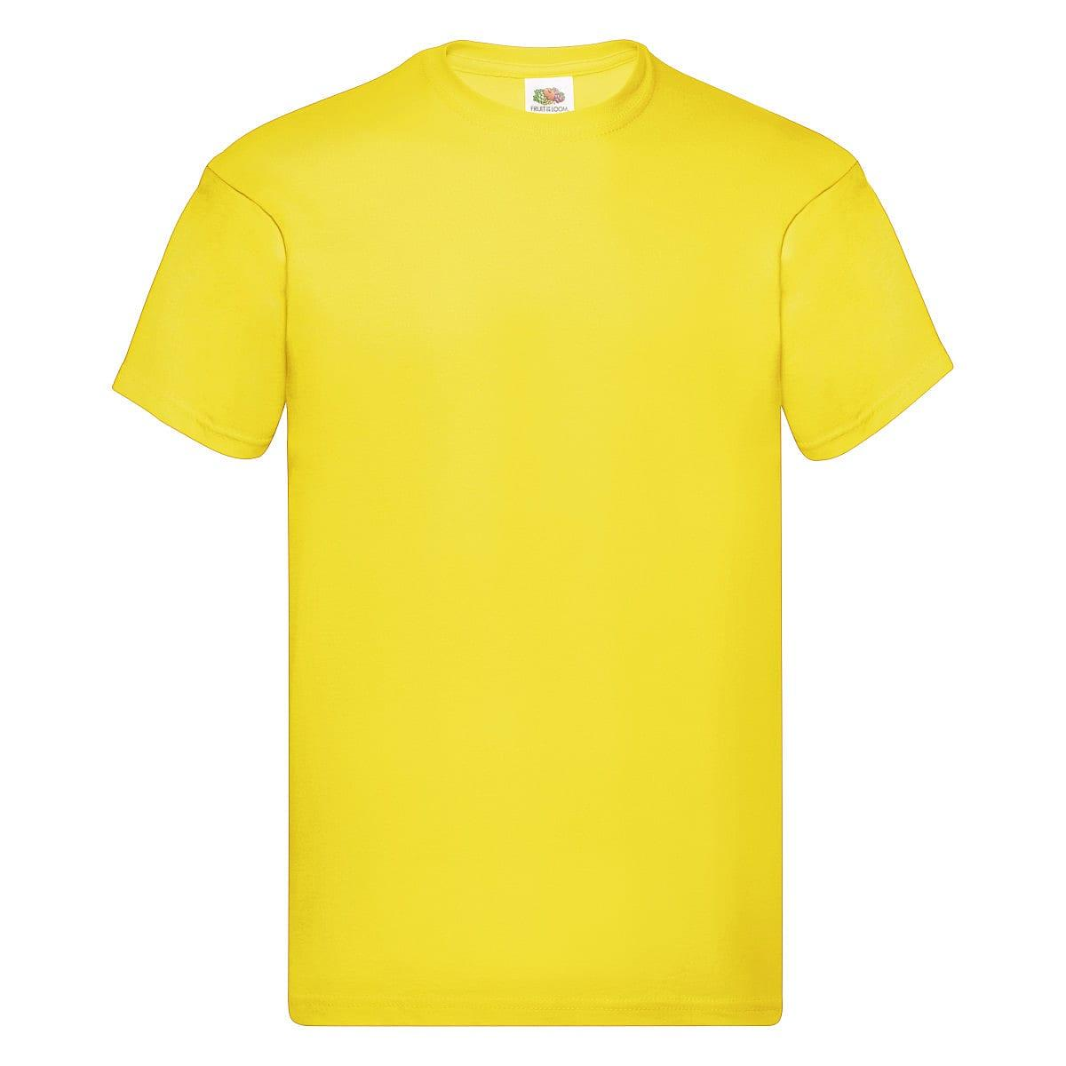 Fruit Of The Loom Original Full Cut T-Shirt in Yellow (Product Code: 61082)