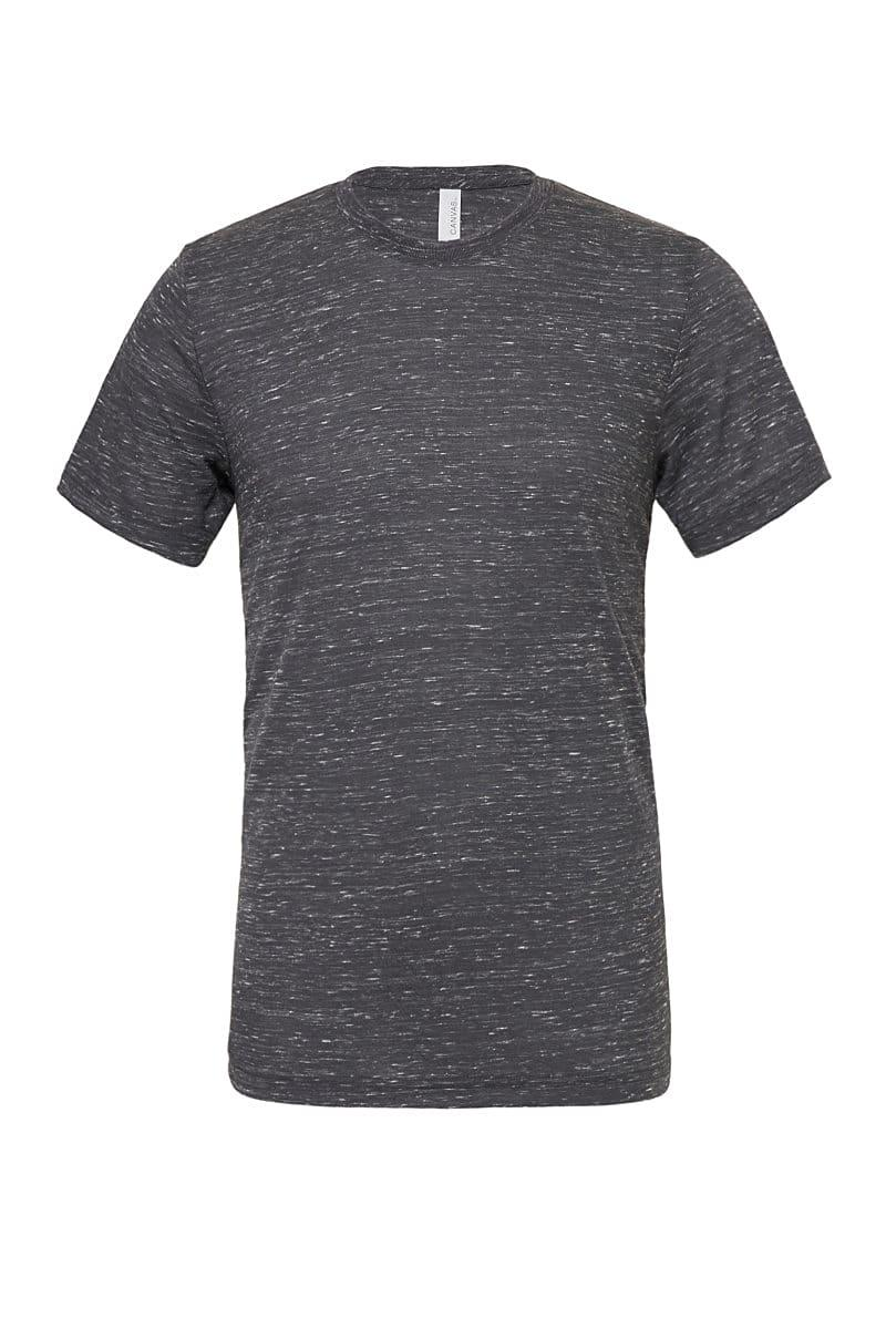 Bella Canvas Unisex Poly-Cotton Short-Sleeve T-Shirt in Charcoal Marble (Product Code: CA3650)